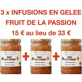 3 INFUSIONS EN GELEE AU FRUIT DE LA PASSION