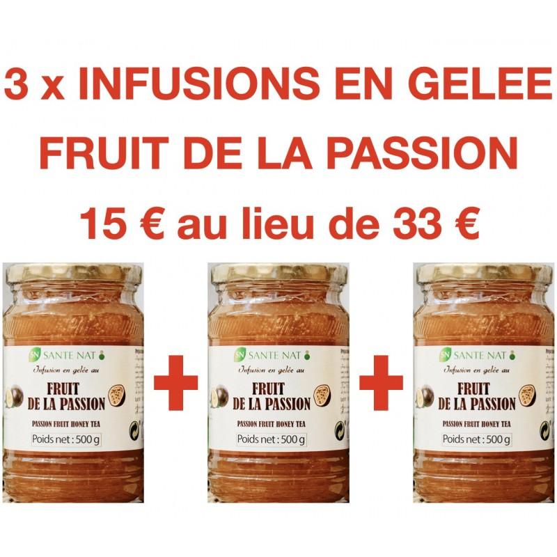 3 INFUSIONS EN GELEE AU FRUIT DE LA PASSION