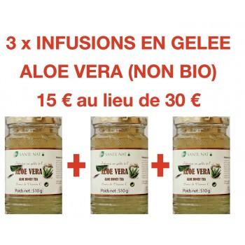 3 INFUSIONS EN GELEE ALOE VERA (NON BIO)